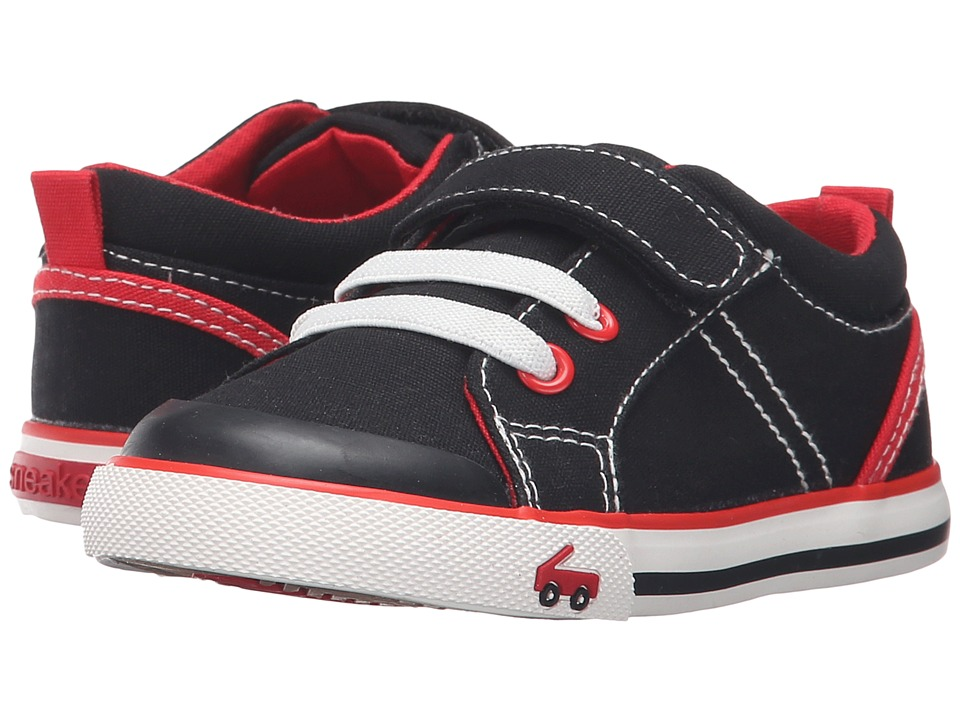 See Kai Run Kids - Tanner (Toddler) (Black/Red) Boy's Shoes