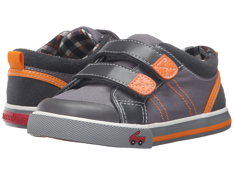 See Kai Run Kids - Hess II (Toddler/Little Kid) (Gray/Orange) Boy's Shoes