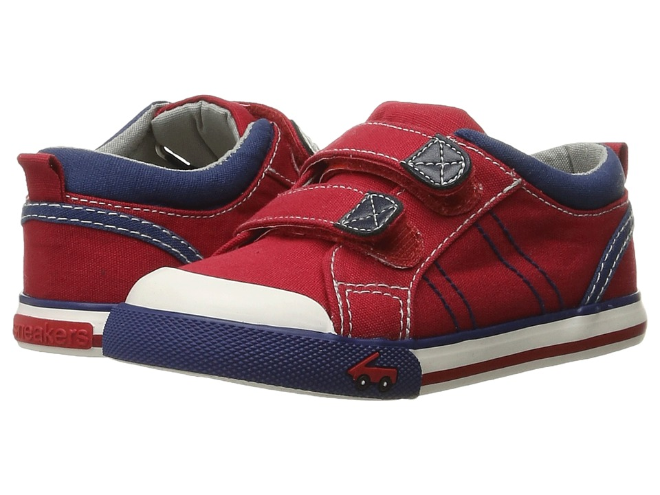 See Kai Run Kids - Hess II (Toddler/Little Kid) (Red/Navy) Boy's Shoes