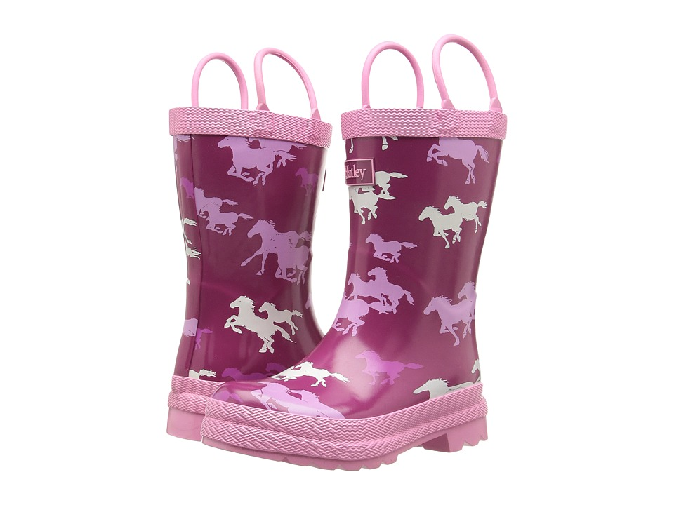 Hatley Kids - Fairy Tale Horses Rain Boots (Toddler/Little Kid) (Pink) Girls Shoes