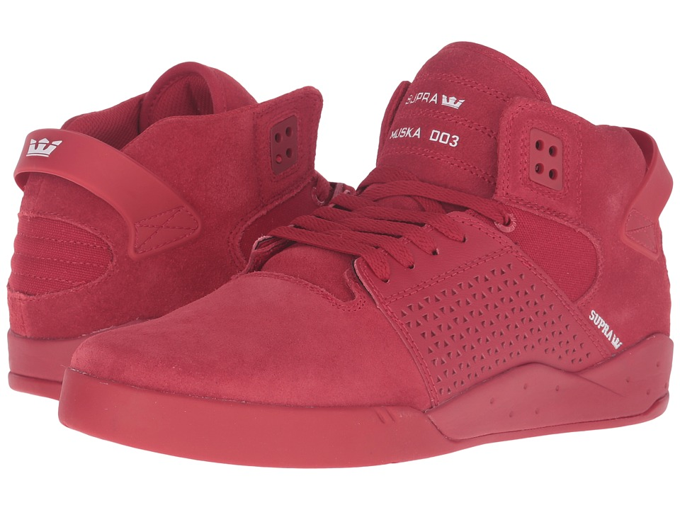 Supra - Skytop III (Red Suede/Canvas) Men's Skate Shoes
