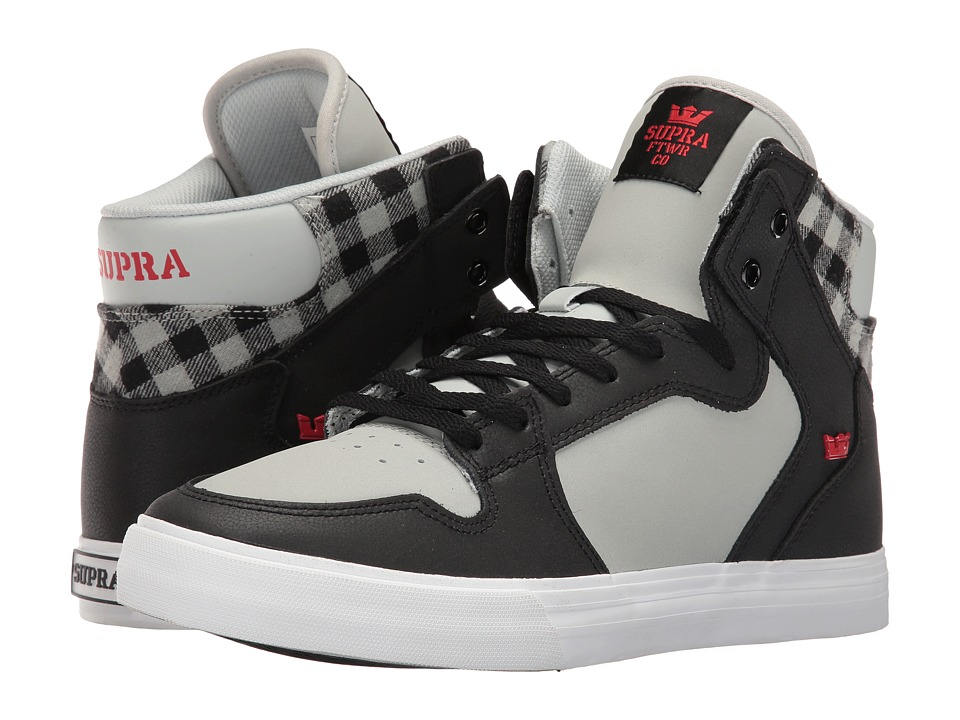 Supra Vaider (Black/Light Grey Nubuck) Skate Shoes