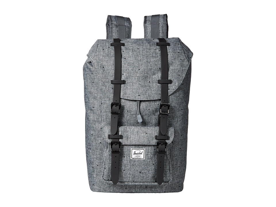 Herschel Supply Co. - Little America Mid-Volume (Scattered Raven Crosshatch/Black Rubber) Backpack Bags