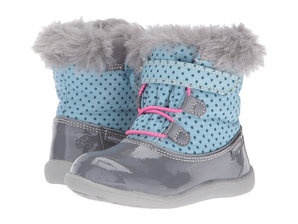 See Kai Run Kids Abby WP (Toddler) (Light Blue/Gray) Girl