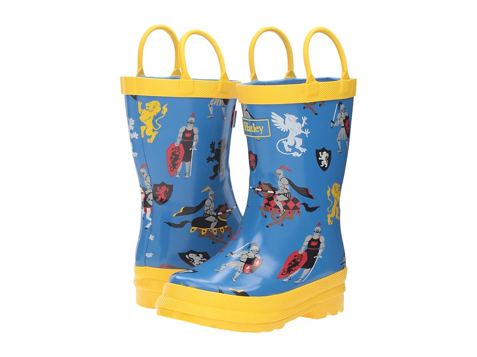 Hatley Kids - Medieval knights Rain Boots (Toddler/Little Kid) (Blue) Boys Shoes