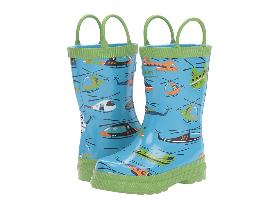 Hatley Kids - Helicopter Rain Boots (Toddler/Little Kid) (Blue) Boys Shoes