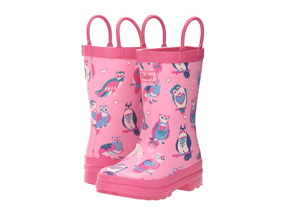 Hatley Kids - Happy Owl Rain Boots (Toddler/Little Kid) (Pink) Girls Shoes