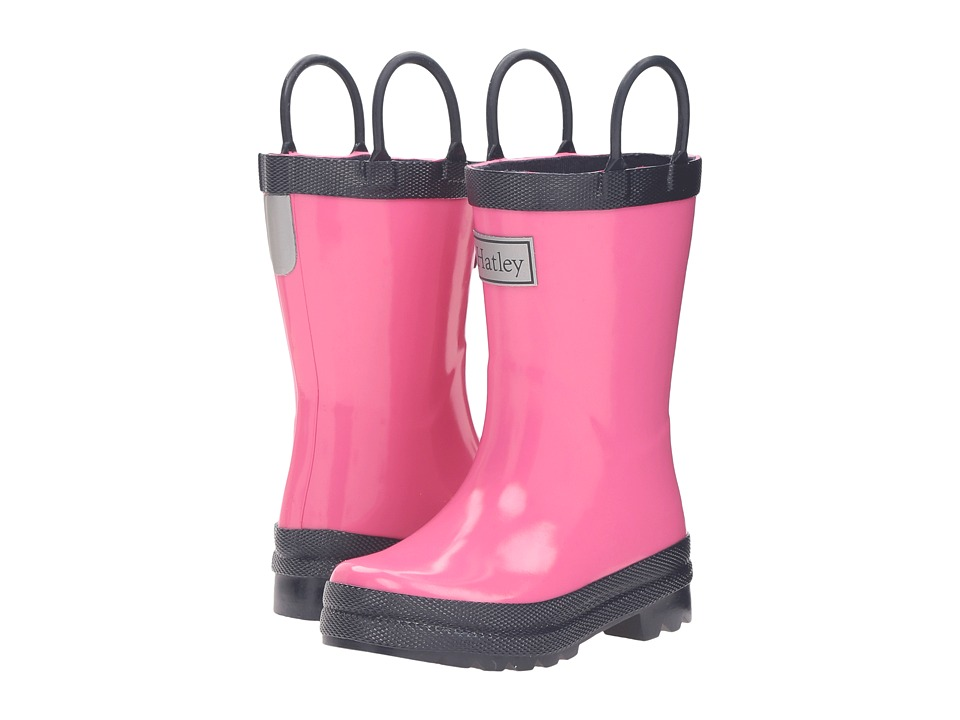 Hatley Kids - Pink Navy Rain Boots (Toddler/Little Kid) (Pink) Girls Shoes