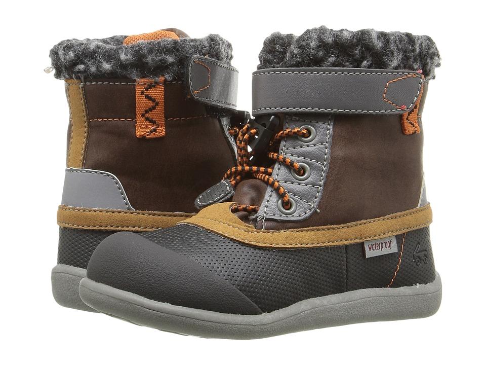 See Kai Run Kids - Jack WP (Toddler) (Brown/Black) Boy's Shoes