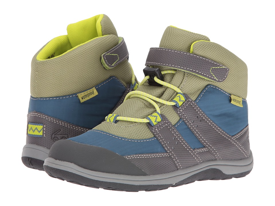 See Kai Run Kids - Atlas WP (Toddler/Little Kid) (Blue/Gray/Green) Boy's Shoes