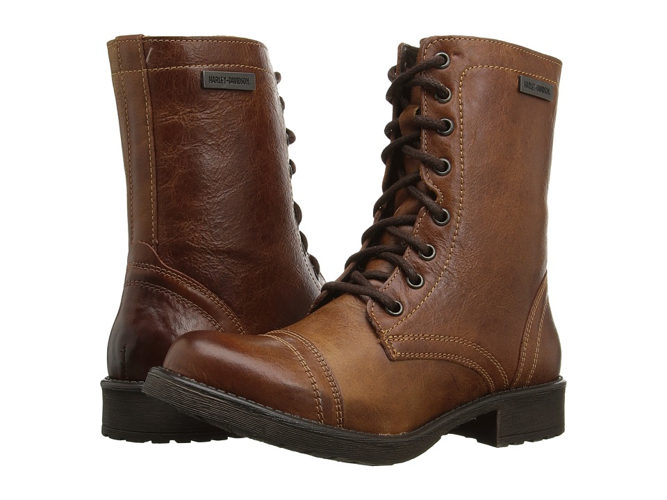 Harley-Davidson Arcola (Brown) Women's Lace-up Boots