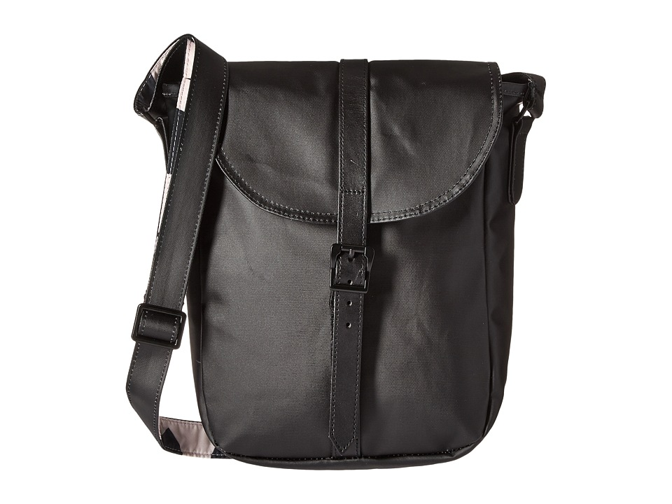 Herschel Supply Co. - Kingsgate (Black/Black Veggie Tan Leather) Backpack Bags