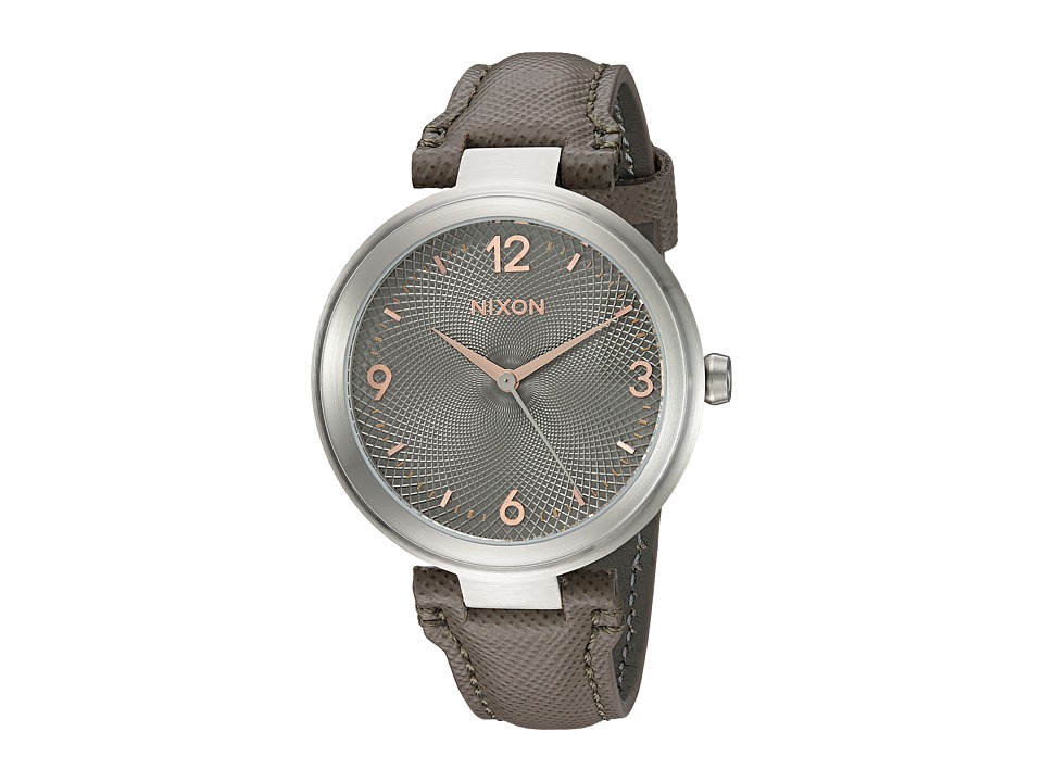 Nixon - Chameleon Leather (Gunmetal/Rose Gold) Watches