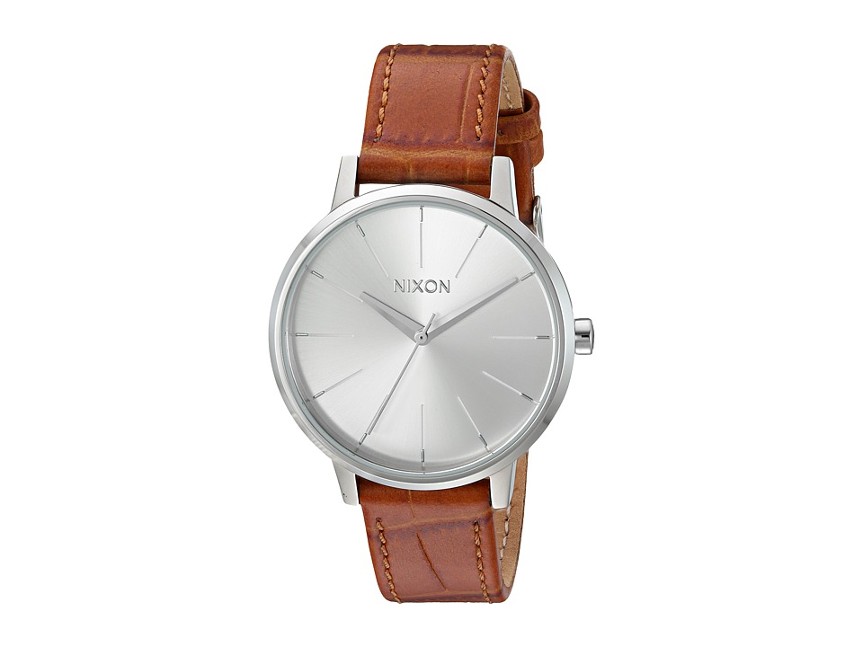 Nixon - Kensington Leather (Silver/Saddle Gator) Watches