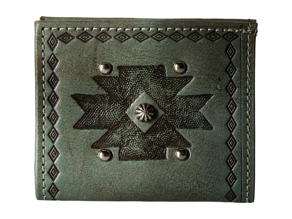 American West - Boyfriend Wallet Bifold Wallet (Turquoise) Wallet Handbags