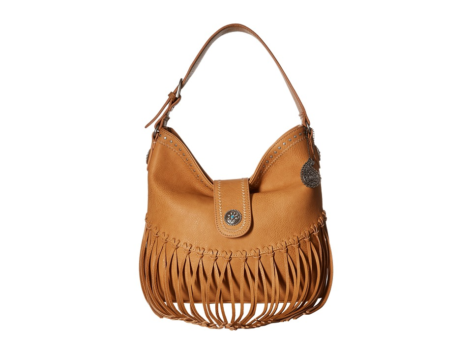 American West - Rio Rancho Hobo Shoulder Bag (Tan) Shoulder Handbags