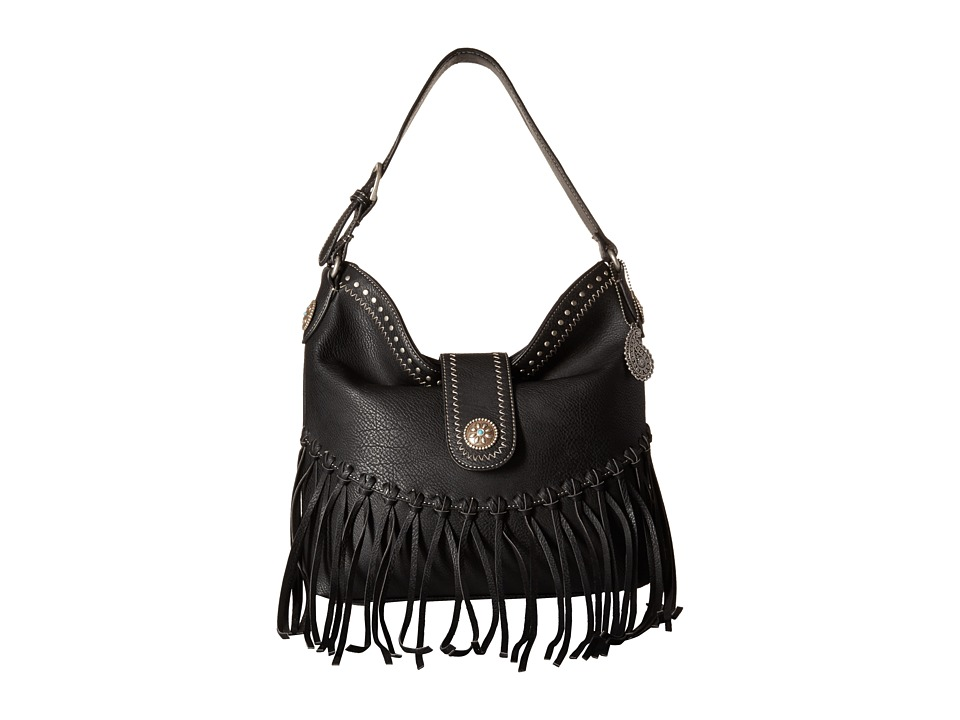 American West - Rio Rancho Hobo Shoulder Bag (Black) Shoulder Handbags
