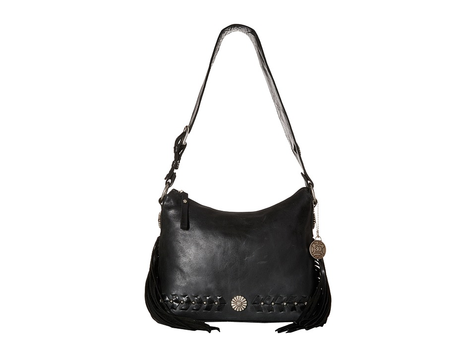 American West - River Ranch Slouch Zip Top Shoulder Bag (Charcoal) Shoulder Handbags
