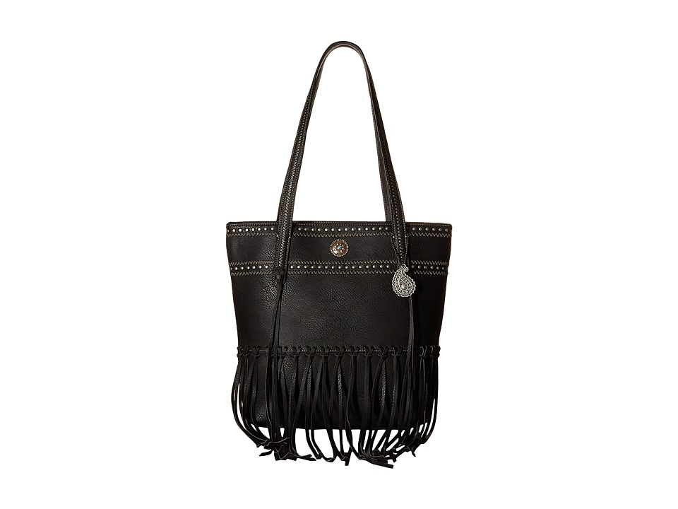 American West - Rio Rancho Zip Top Tote (Black) Tote Handbags