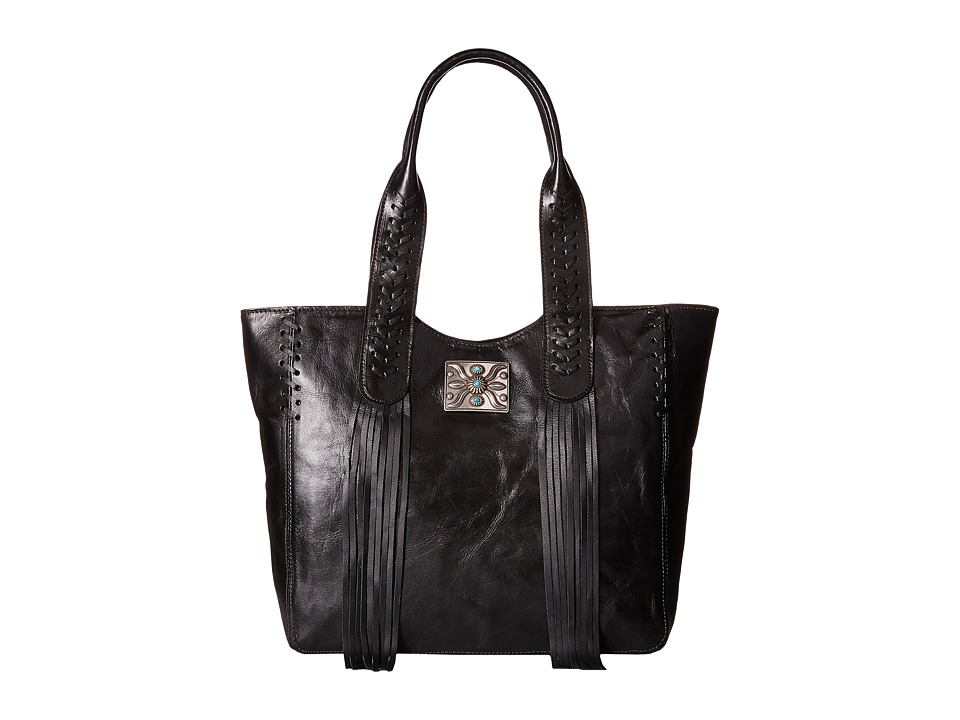 American West - Mohave Canyon Large Zip Top Tote (Black) Tote Handbags