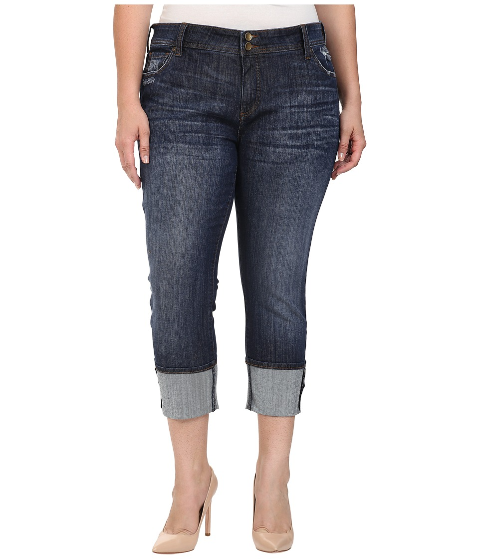 KUT from the Kloth - Plus Size Cameron Straight Leg Jeans in Goal (Goal) Women's Jeans