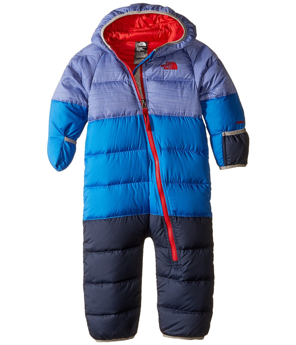 The North Face Kids - Lil' Snuggler Down Suit (Infant) (Honor Blue Heather) Kid's Snow Bibs One Piece