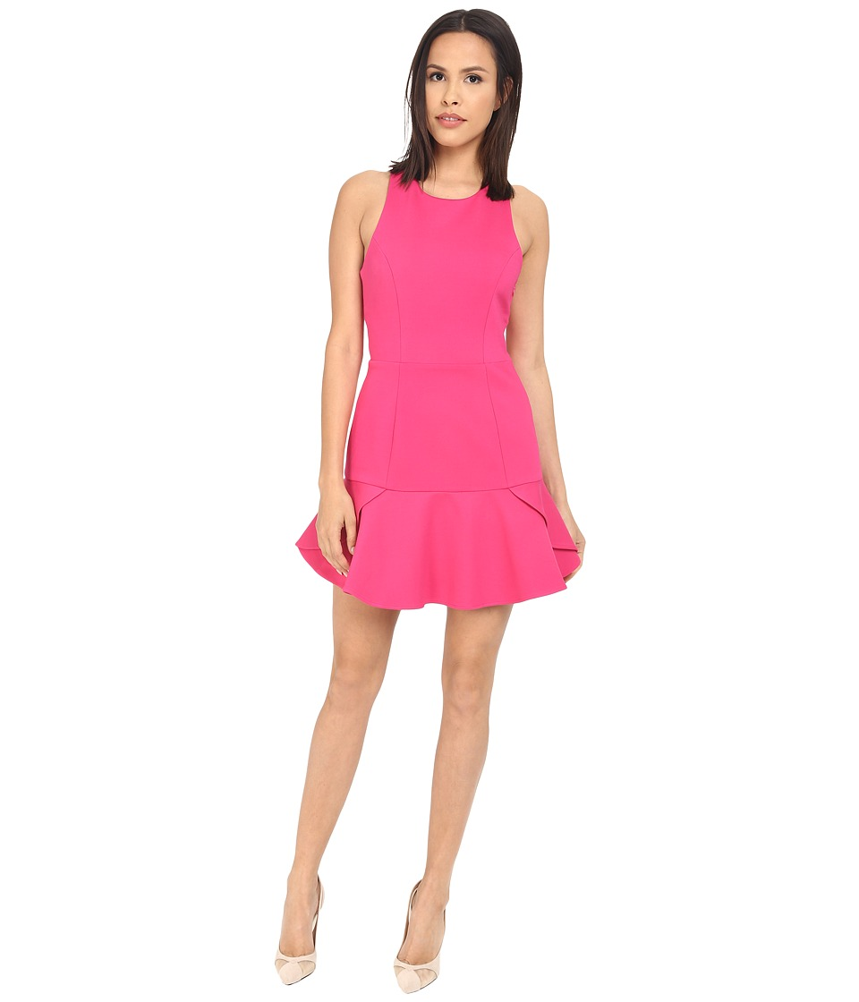 Adelyn Rae - Peplum Bottom Dress (Deep Pink) Women's Dress