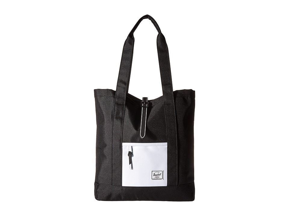 Herschel Supply Co. - Market (Black/Black Rubber/White Insert) Tote Handbags