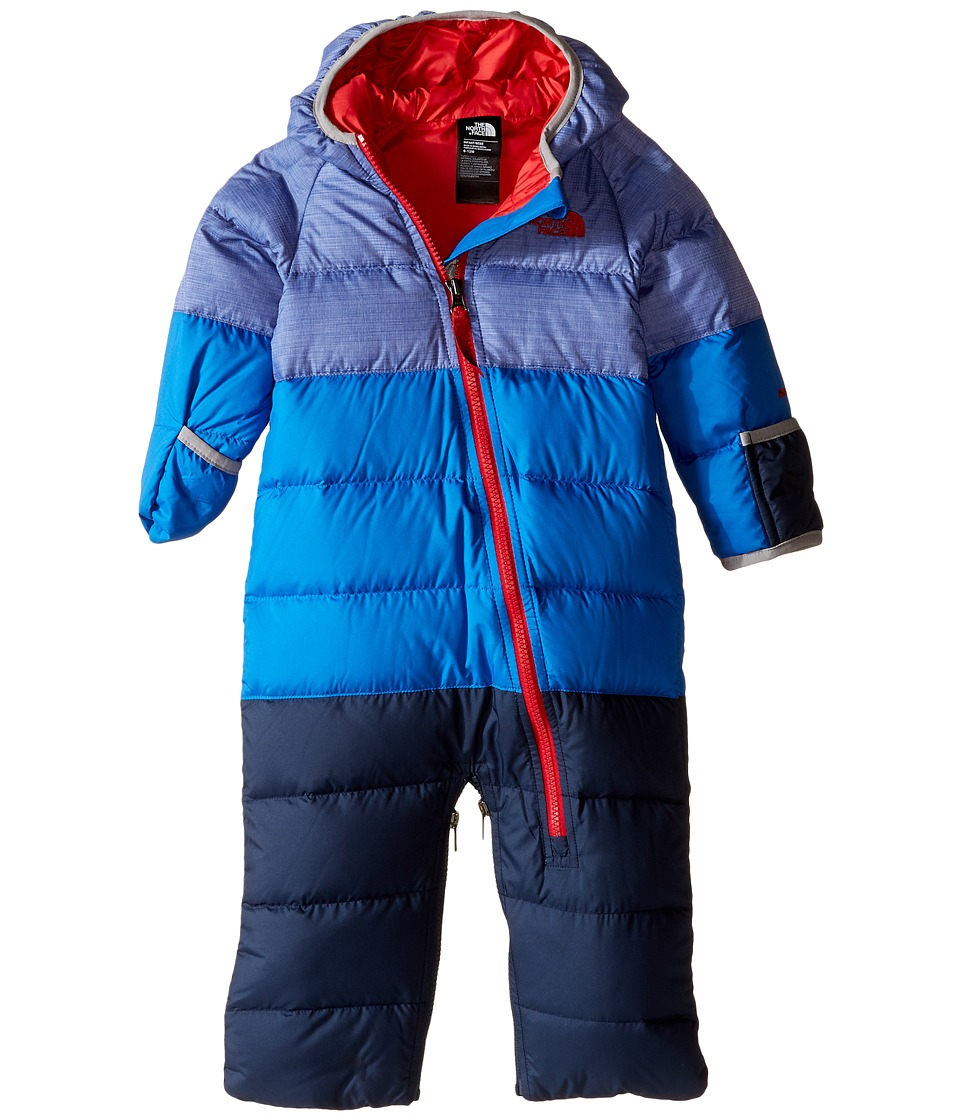 The North Face Kids - Lil' Snuggler Down Bunting (Infant) (Honor Heather Blue) Kid's Jumpsuit & Rompers One Piece