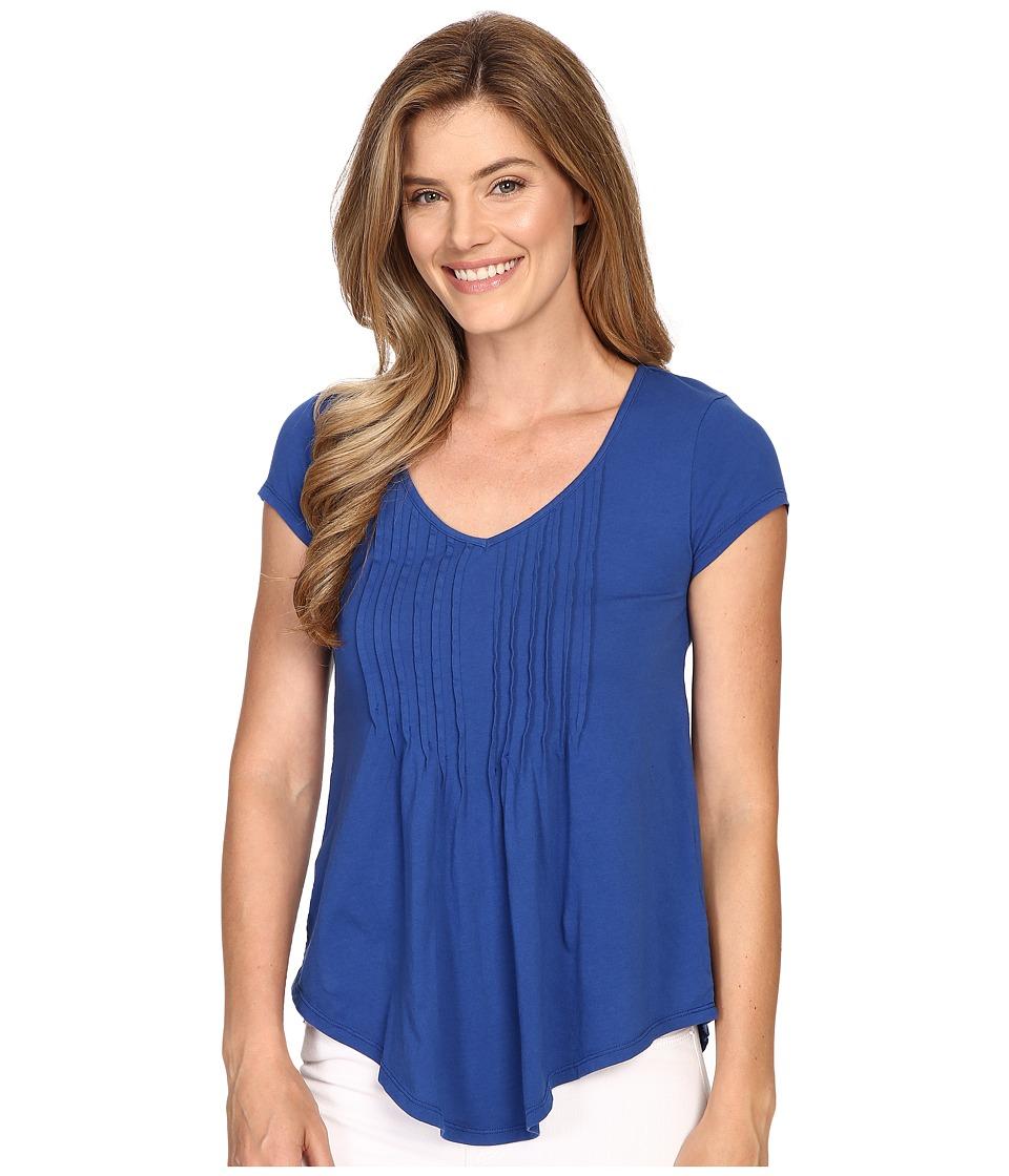 Mod-o-doc - Supreme Jersey Tux Pleat Short Sleeve V-Neck Tee (Sailor) Women's T Shirt