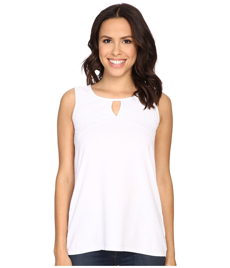 Mod-o-doc - Classic Jersey Embroidered Tank (White) Women's Sleeveless