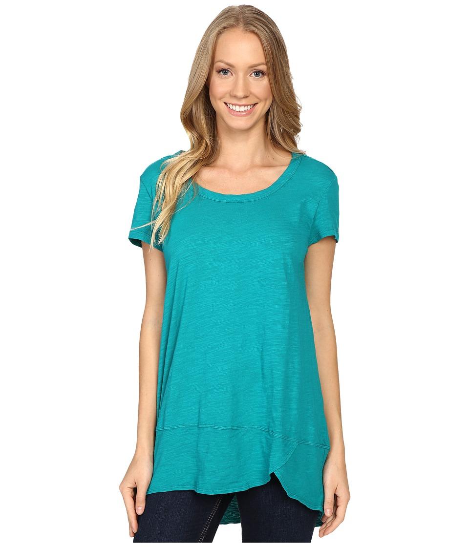 Mod-o-doc - Slub Jersey Short Sleeve Scoopneck Tee (Dark Jade) Women's T Shirt