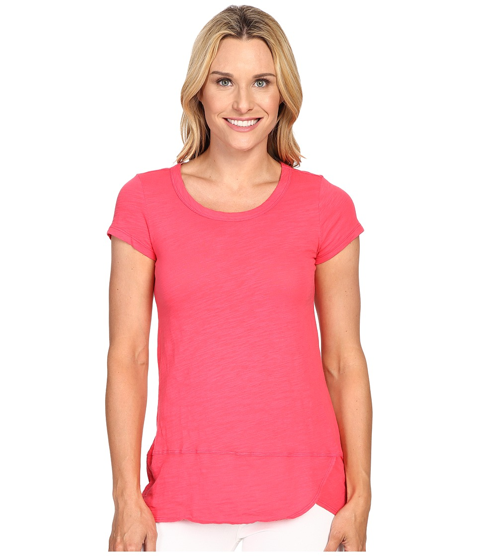 Mod-o-doc - Slub Jersey Short Sleeve Scoopneck Tee (Dragonfruit) Women's T Shirt