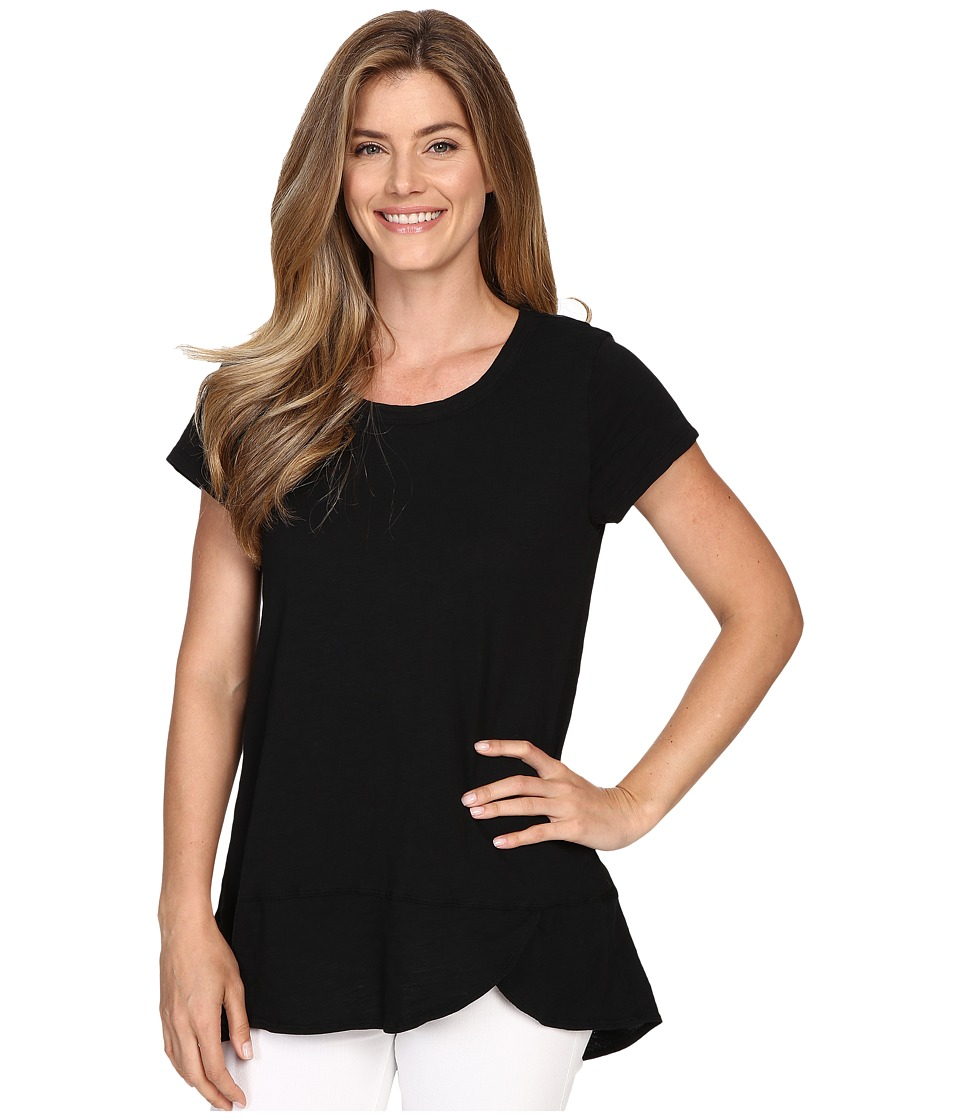 Mod-o-doc - Slub Jersey Short Sleeve Scoopneck Tee (Black) Women's T Shirt