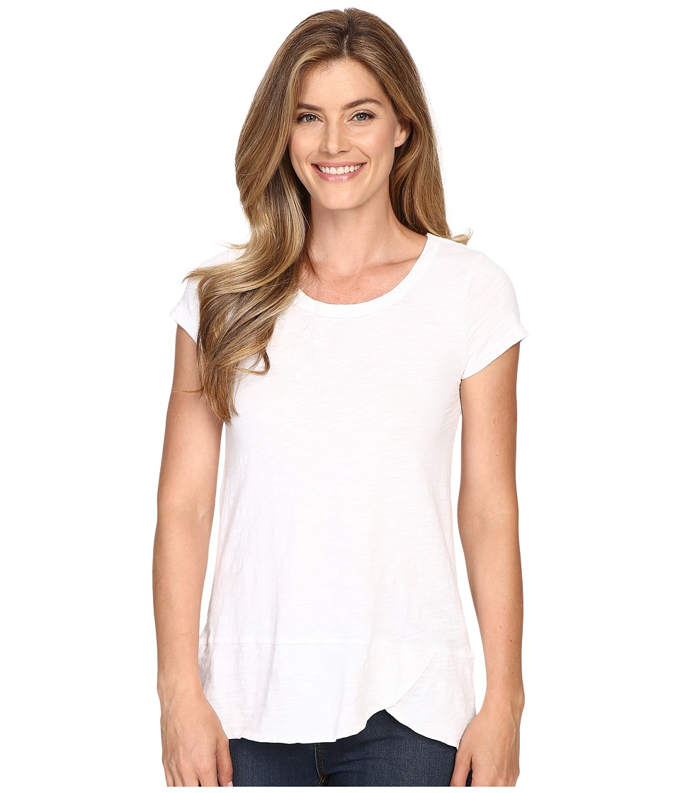 Mod-o-doc - Slub Jersey Short Sleeve Scoopneck Tee (White) Women's T Shirt