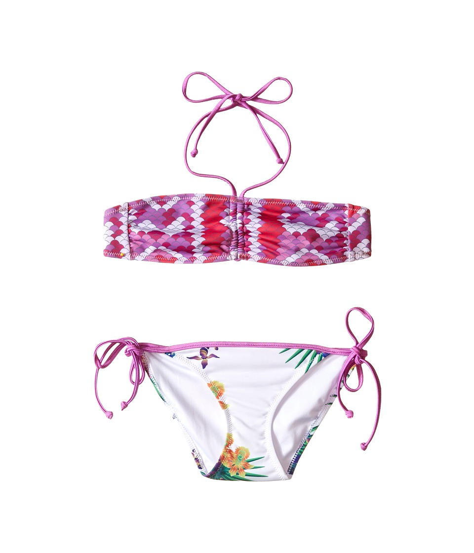 Bowie X James - Bird Of Paradise Swim Set (Toddler/Little Kids/Big Kids) (Pink) Girl's Swimwear Sets