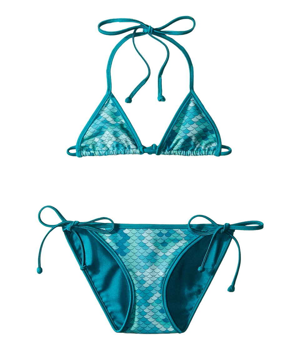 Bowie X James - Electric Eel Swim Set (Toddler/Little Kids/Big Kids) (Seafoam) Girl's Swimwear Sets