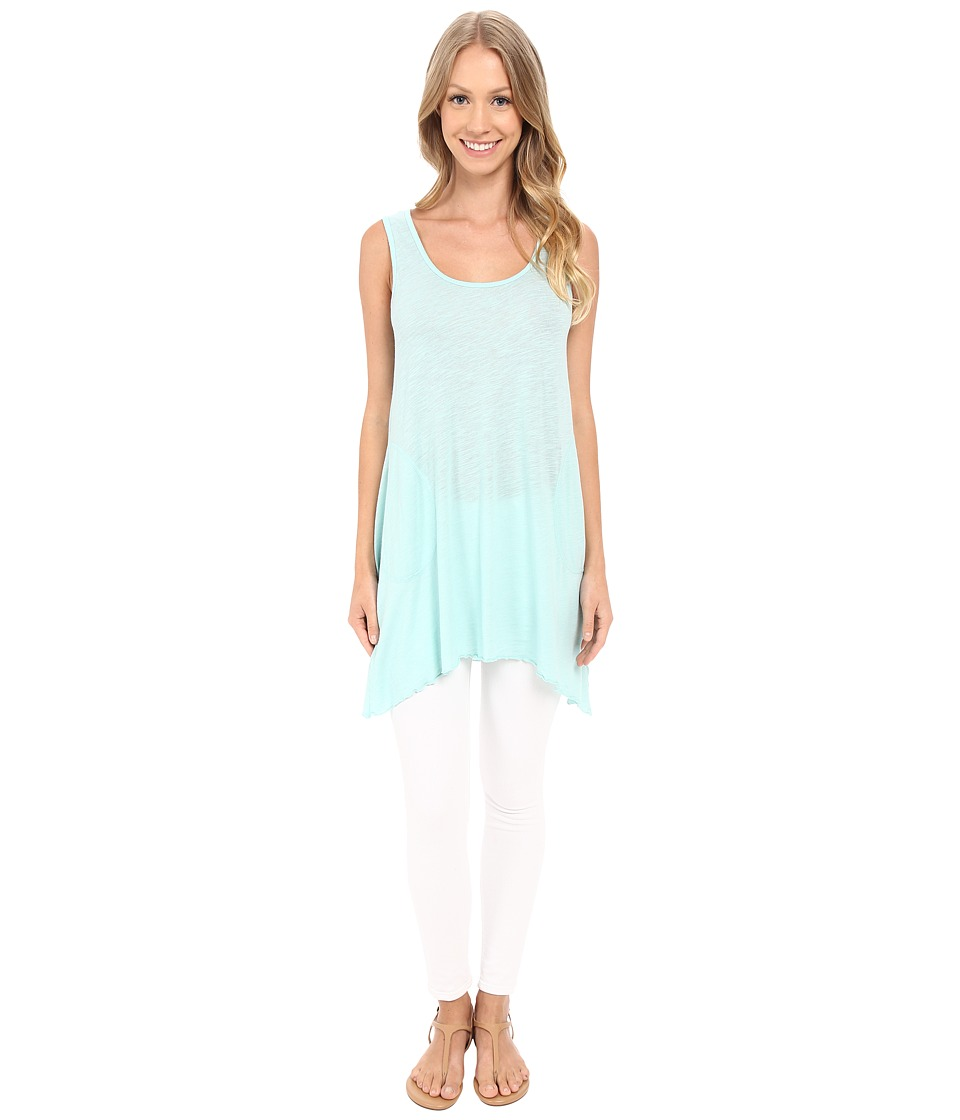 Allen Allen - Scoop Neck Angled Tunic (Pale Aqua) Women's Sleeveless