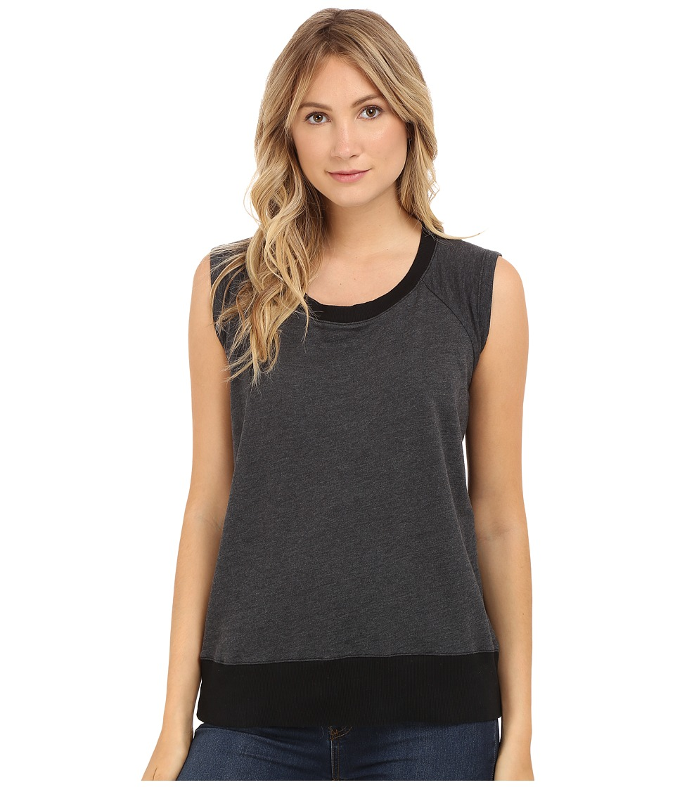 Allen Allen - Sleeveless Sweatshirt (Black) Women's Sleeveless