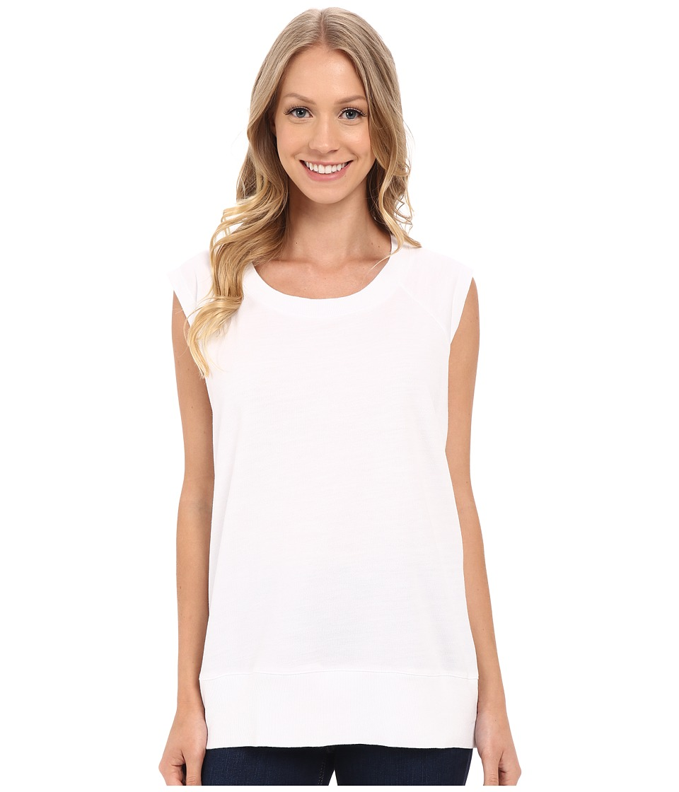 Allen Allen - Sleeveless Sweatshirt (White) Women's Sleeveless