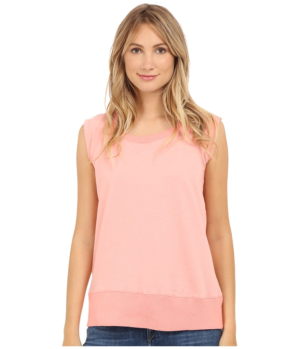 Allen Allen - Sleeveless Sweatshirt (Peach Amber) Women's Sleeveless