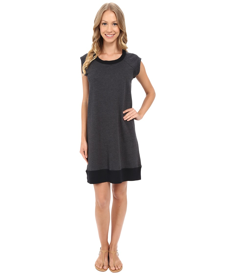 Allen Allen - Sweatshirt Dress (Black) Women's Dress