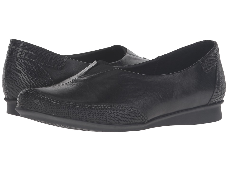 Taos Footwear - Marvey (Black Leather) Women's Shoes