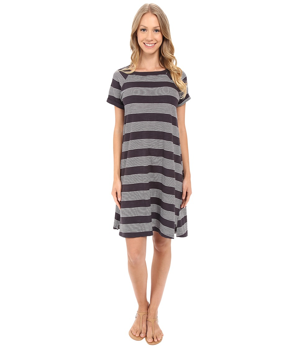 Allen Allen - Stripe T-Shirt Dress (Jet Grey) Women's Dress