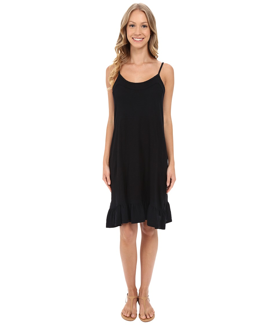 Allen Allen Cami Ruffle Dress (Black) Women
