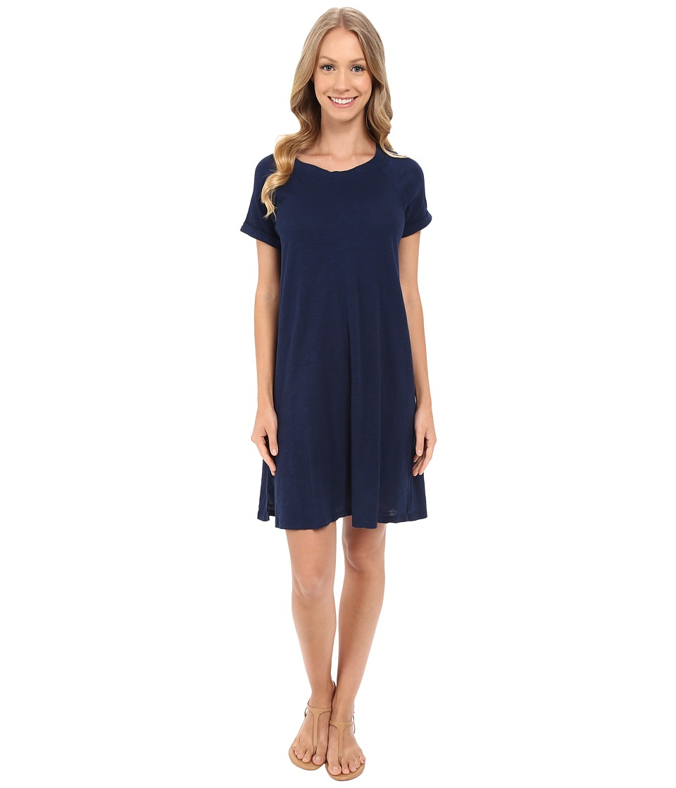 Allen Allen Short Sleeve Sweatshirt Dress (Lapis) Women
