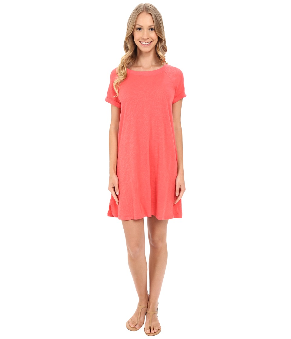 Allen Allen Short Sleeve Sweatshirt Dress (Begonia) Women