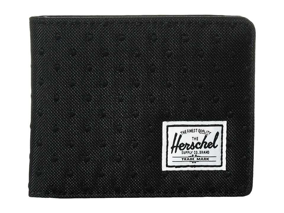 Herschel Supply Co. - Hank (Black/Black Embroidery Polka Dot) Wallet Handbags