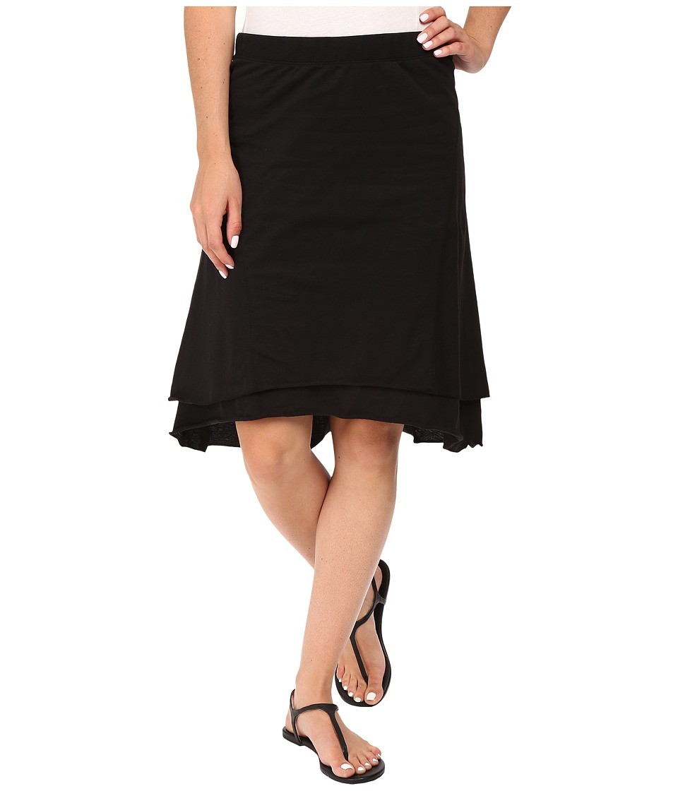 Mod-o-doc - Classic Jersey Seamed Skirt (Black) Women's Skirt