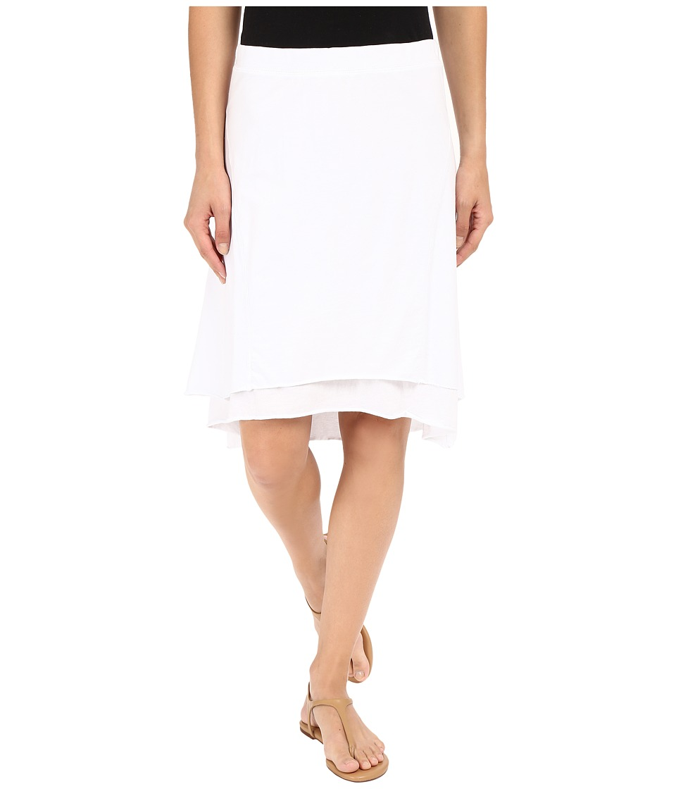 Mod-o-doc - Classic Jersey Seamed Skirt (White) Women's Skirt